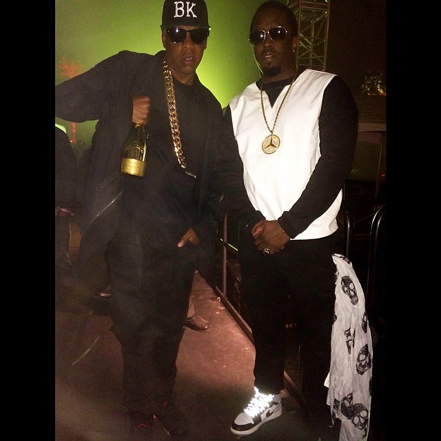 Diddy wearing Air Jordan I 1 Barons