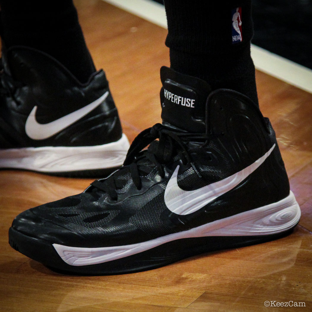 Sole Watch // Up Close At Barclays for Nets vs Cavs - Alonzo Gee wearing Nike Hyperfuse 2012