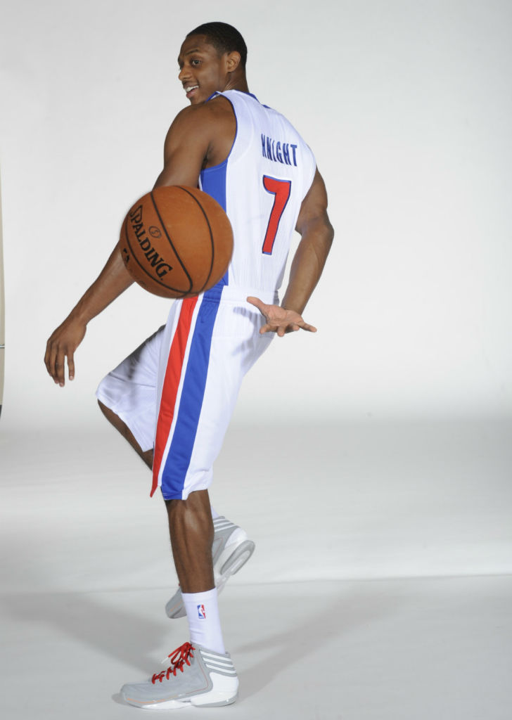 Brandon Knight wearing adidas adiZero Crazy Light 2