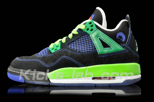 Air Jordan 4 IV Doernbecher Superman Black Old Royal Electric Green White 308497-015
