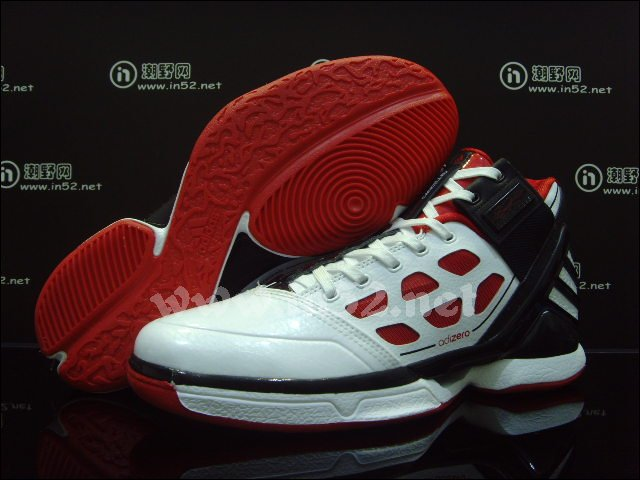 huge selection of b3ce9 849b2 adidas adiZero Rose 2 White Red Black G22888