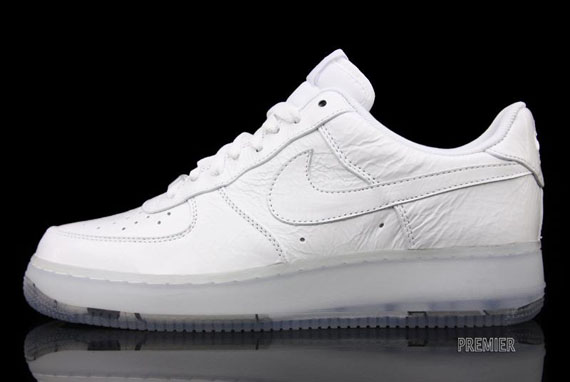 Nike Air Force 1 Low Premium White Crinkled Patent Sole Collector