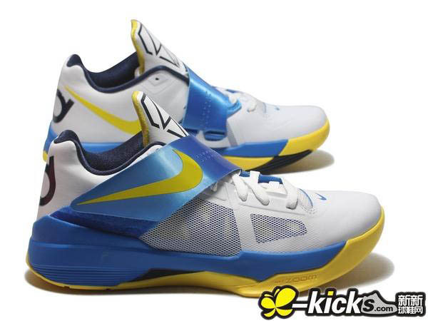 buy popular 32736 7244c Nike Zoom KD IV White Tour Yellow Photo Blue Midnight Navy 473679-102 (2