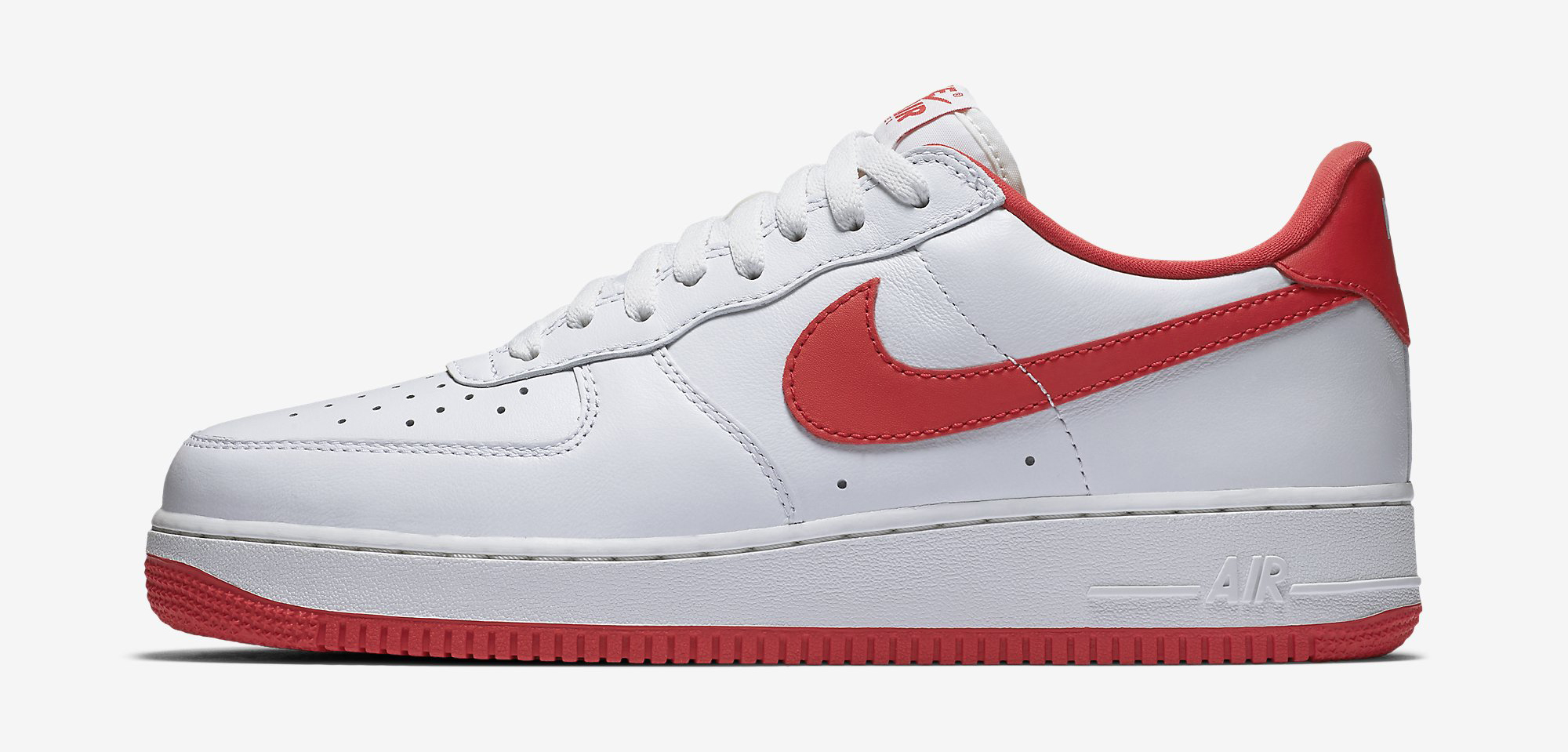 nike air force 1 white red .