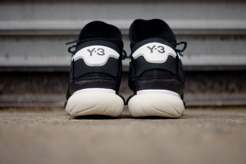 adidas yohji yamamoto y-3 qasa high in black and white heel