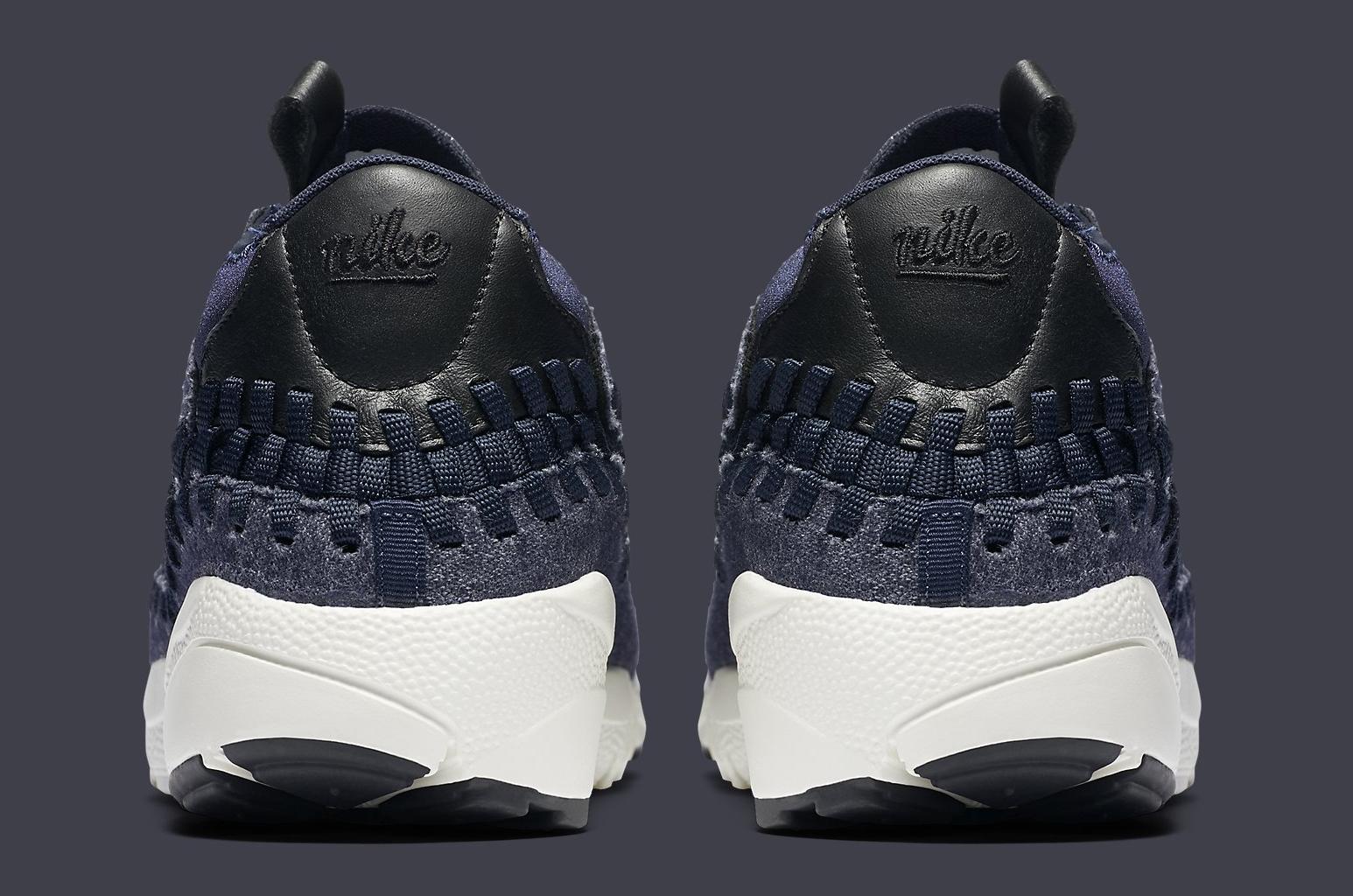 newest 46a08 697a6 Image via Nike Nike Footscape Woven Chukka Denim 857874-400 Heel