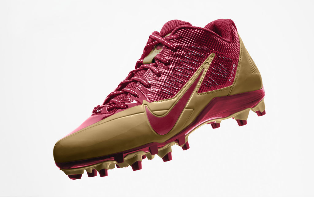 Nike Alpha Pro Cleats for San Francisco 49ers (2)