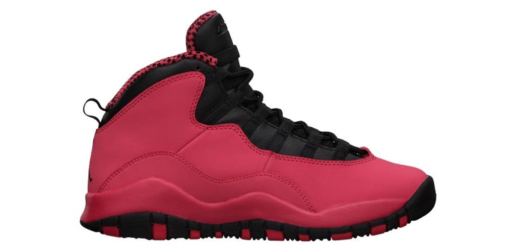 d55cd361c927 Shoe  Girls  Air Jordan 10 Retro Colorway  Fusion Red   Black - Laser  Orange Year  2013