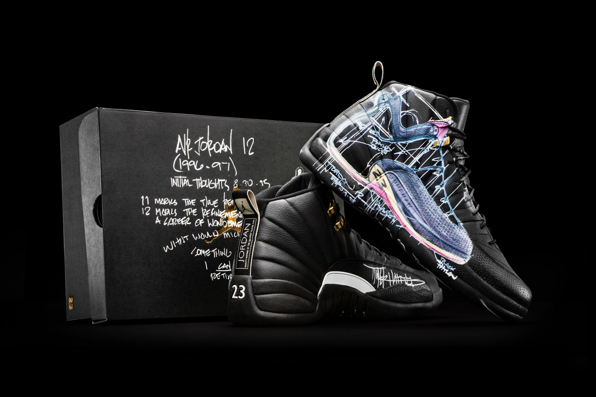 new style 1b873 51acf Air Jordan 12 Doernbecher Charity by Tinker Hatfield   Mark Smith ...