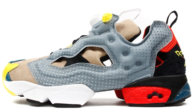 Reebok Instapump Fury Flat Grey/Canvas-Black-Red