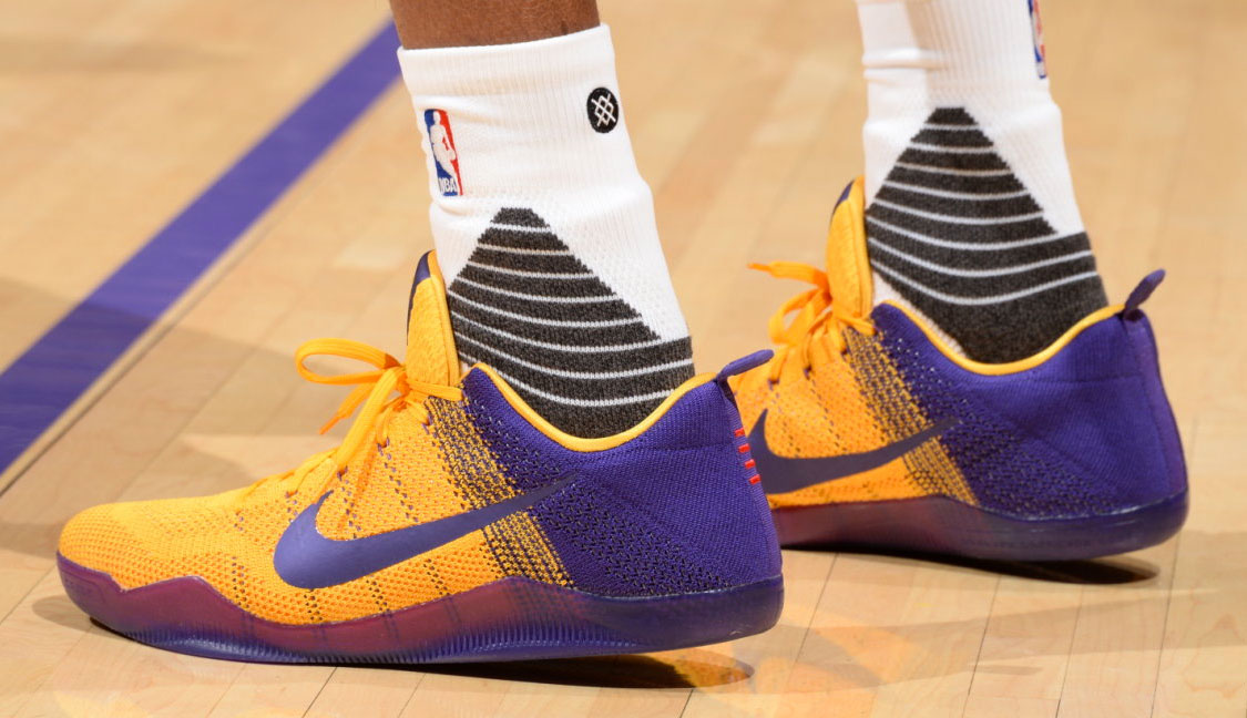 7a18bb5382724 SoleWatch: Kobe Bryant Debuts 'Lakers' Nike Kobe 11 | Sole Collector