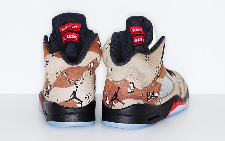online retailer 6680b 00ffd Supreme s Air Jordan 5s Release Tomorrow   Sole Collector