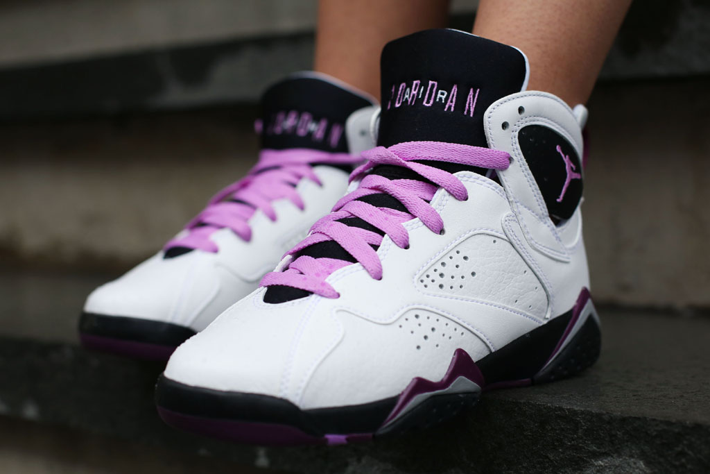 brand new d11d0 e552d Air Jordan 7 Fuchsia On-Foot 442960-127 (1)