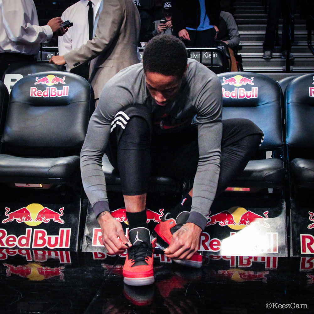 DeMar DeRozan wearing Air Jordan 3 Retro Doernbecher (2)