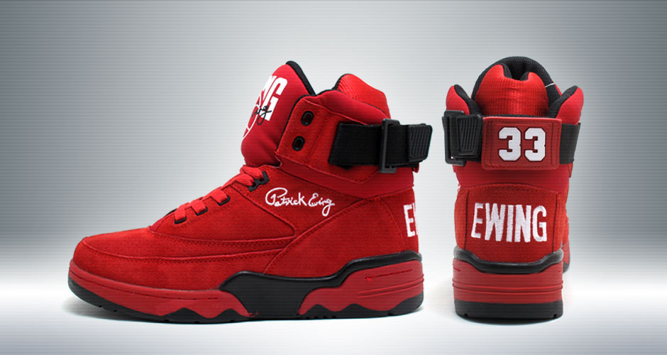 Ewing Athletics 33 Hi Retro Red