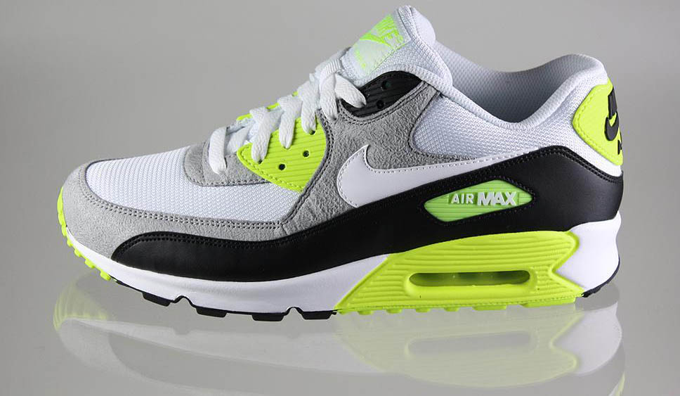 nike air max white black volt