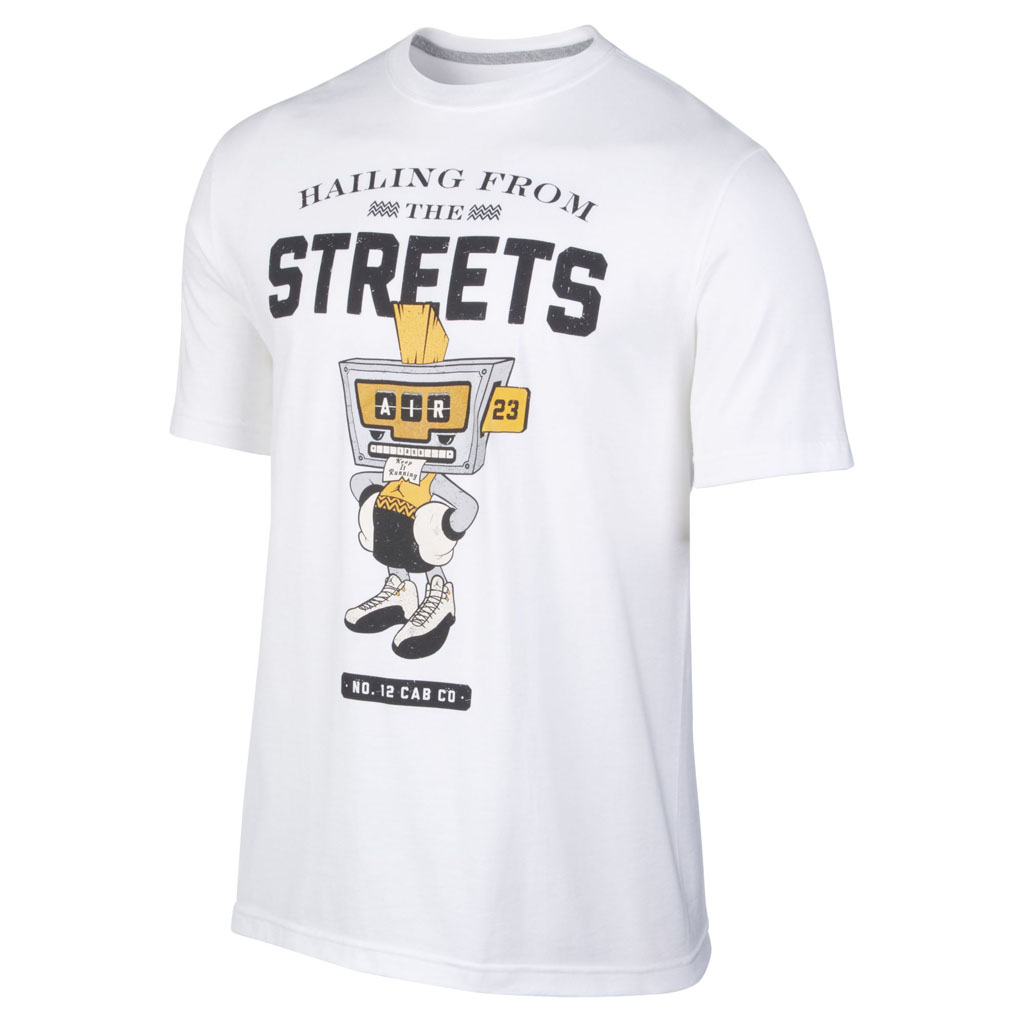Air Jordan 12 Retro 'Taxi' Collection Hailing From The Streets T-Shirt White