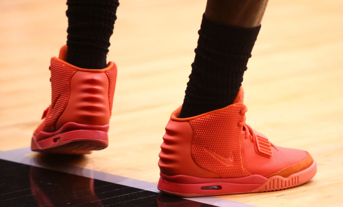LeBron James wearing Nike Air Yeezy II 2 Red October (9)