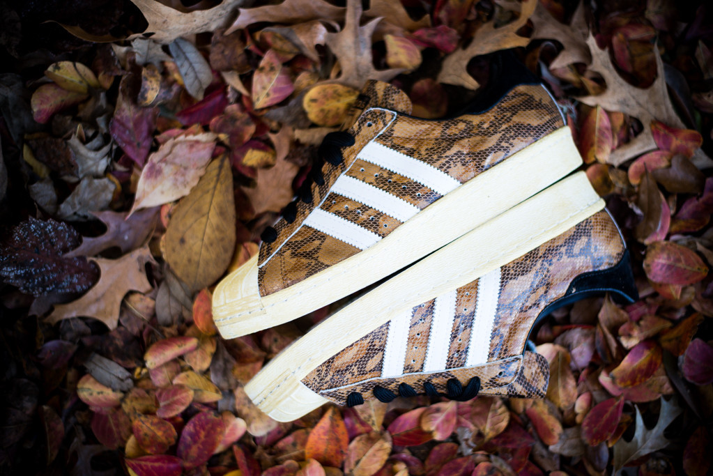 adidas Originals Superstar 80s Brown Snakeskin vintage midsole