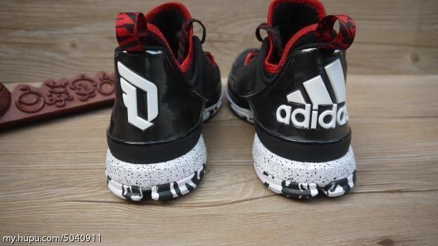 best sneakers b5ab5 7cc7f adidas D Lillard 1 BlackRed-White (8)