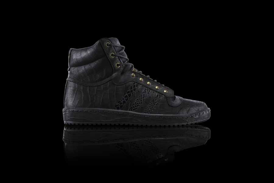 all black high top adidas