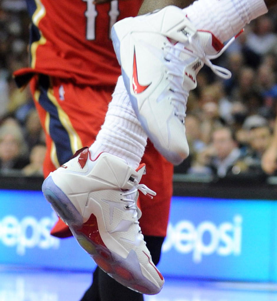 Nike LeBron XII 12 White/Red PE