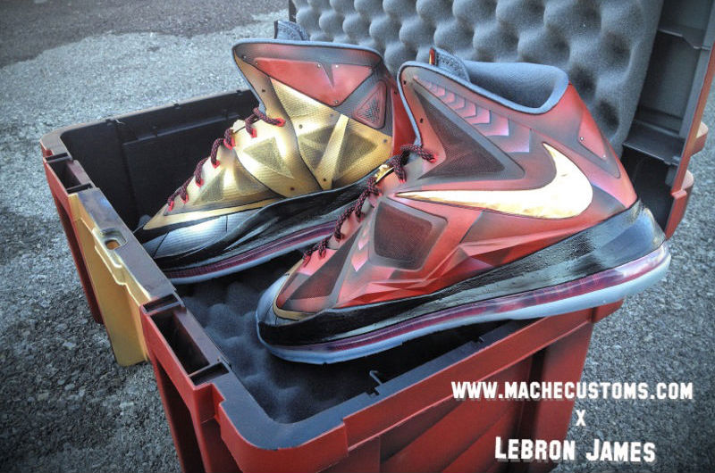 "Nike LeBron X ""Ironman 3"" for LeBron by Mache Custom Kicks (1)"