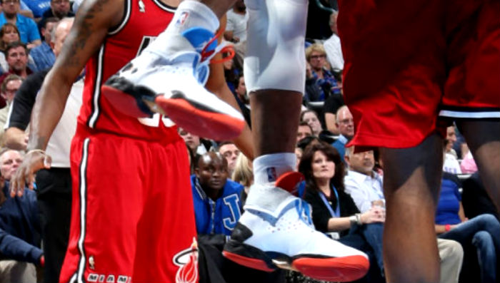 Russell Westbrook wearing Air Jordan XX8 OKC PE