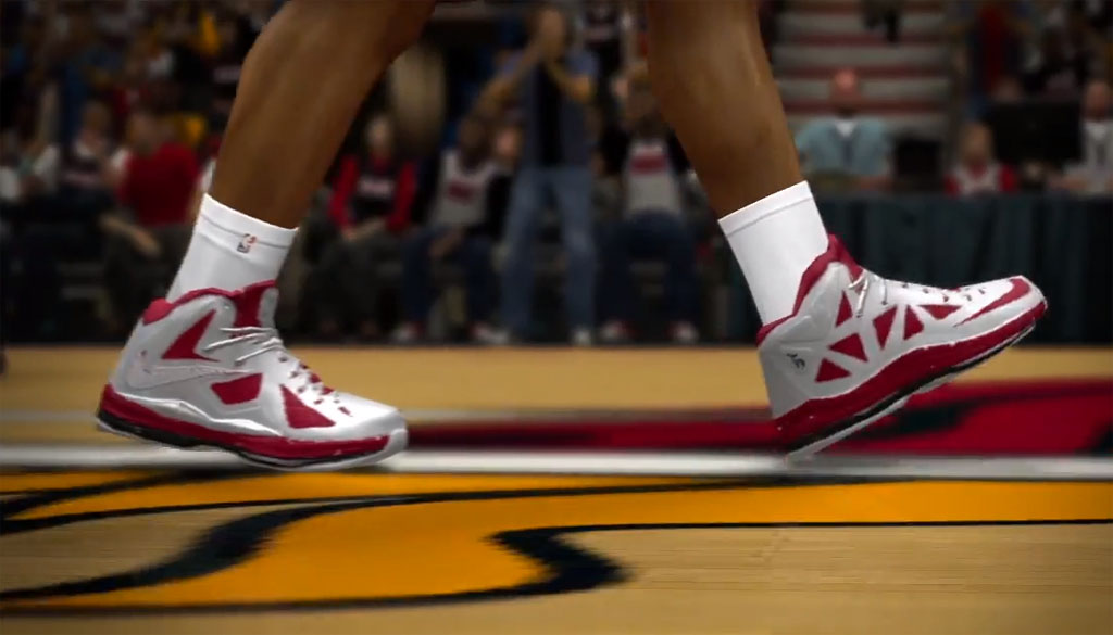 NBA 2K14 // LeBron James wearing Nike LeBron X PS Elite PE