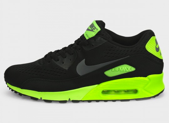 nike air max 90 green and black