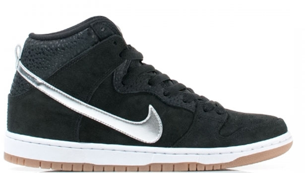Nike Dunk High Premium SB Black/Metallic Silver