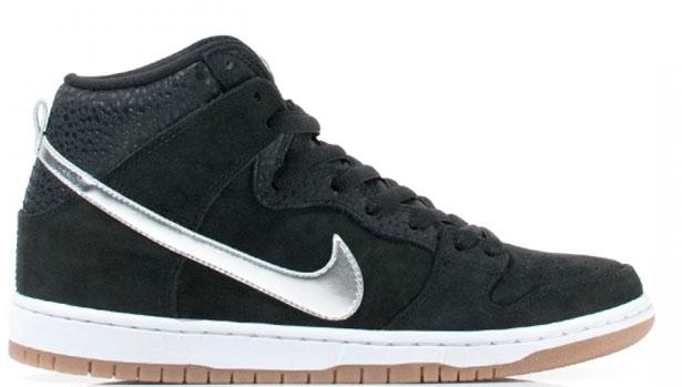 Nike Dunk High Premium SB Black/Metallic Silver