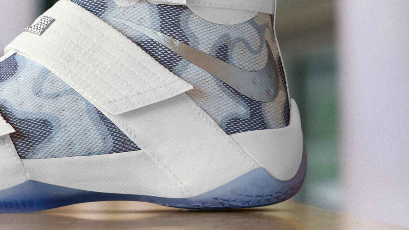 Camo Nike LeBron Soldier 10 Veterans Day Detail