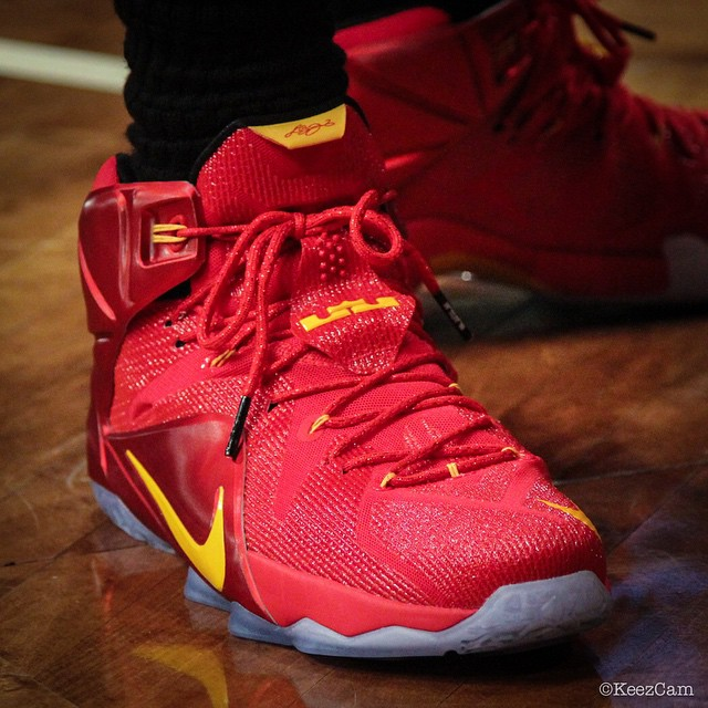 Nike LeBron XII 12 Red/Yellow PE (6)