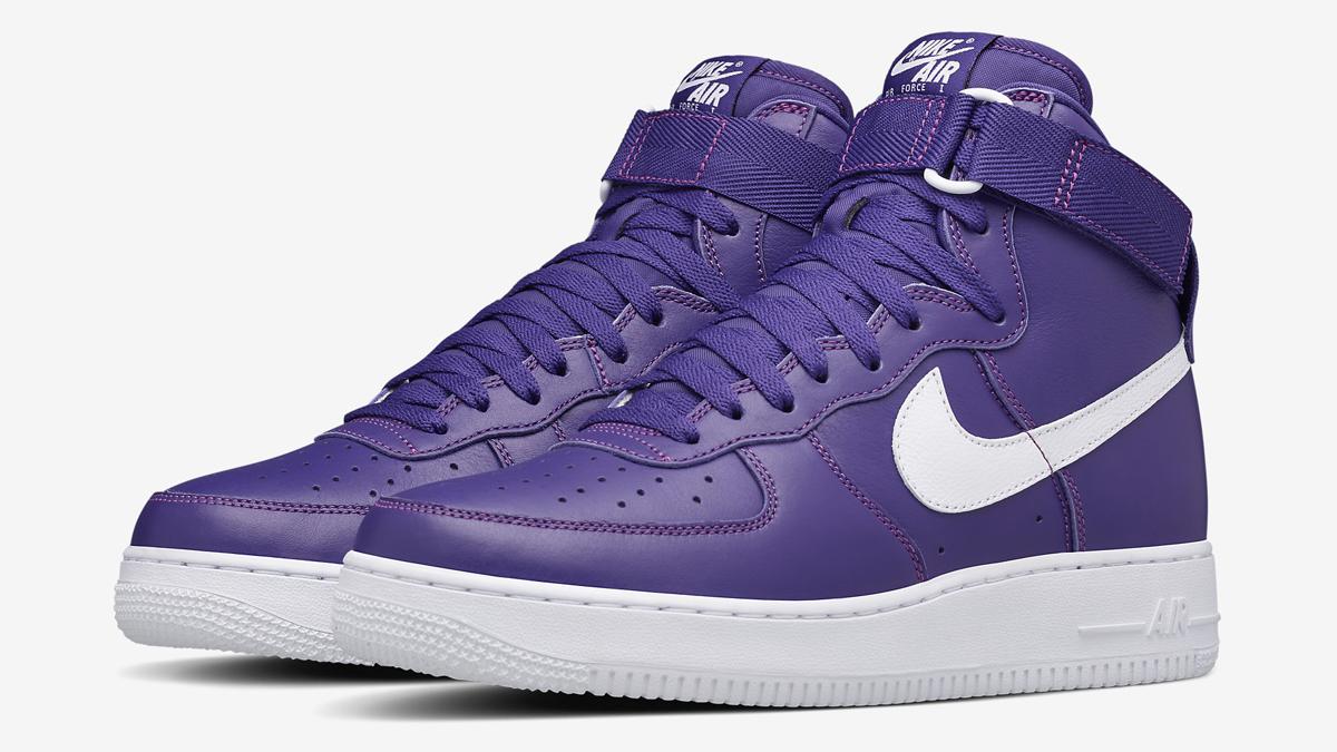 newest 78bab efaa2 Nike Air Force 1 Purple Leather