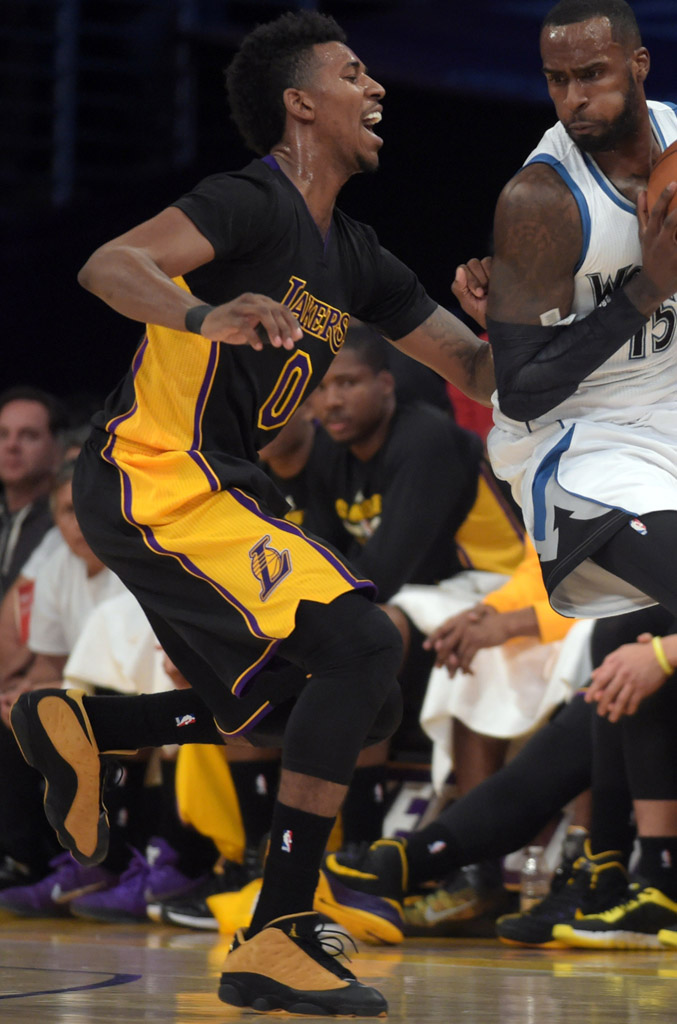 Nick Young wearing Air Jordan XIII 13 Low Chutney (1)