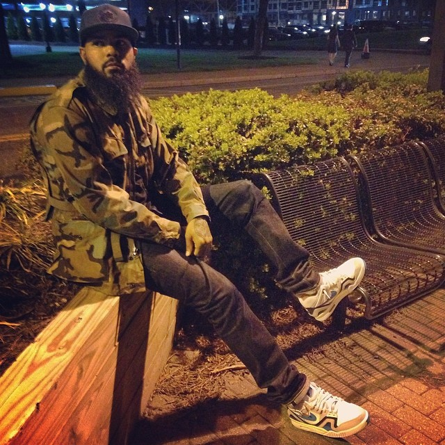 Stalley wearing Nike Air Tech Challenge II Turbo Green