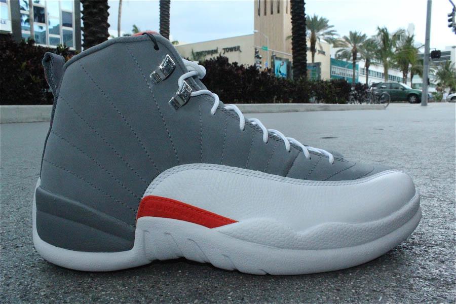 Air Jordan 12 Grey Orange