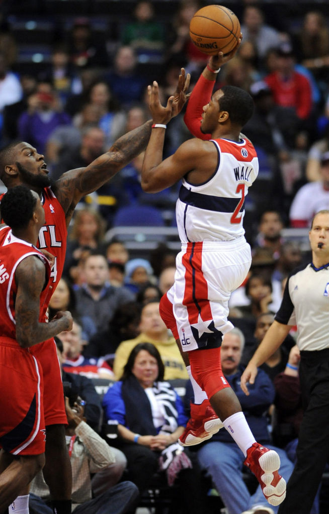John Wall wearing adidas Top Ten 2000 Red Navy (6)
