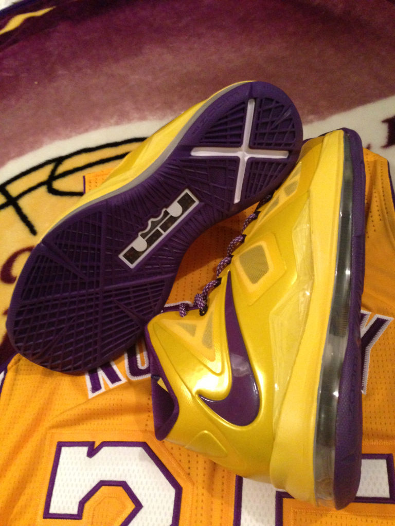 nike lebron 10 lakers id sole collector