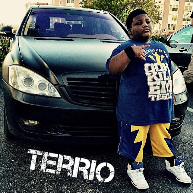 TerRio wearing Air Jordan 5 Retro Laney