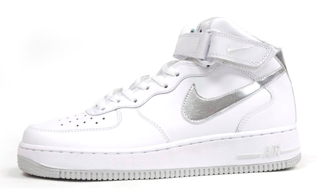 air force 1 white and silver