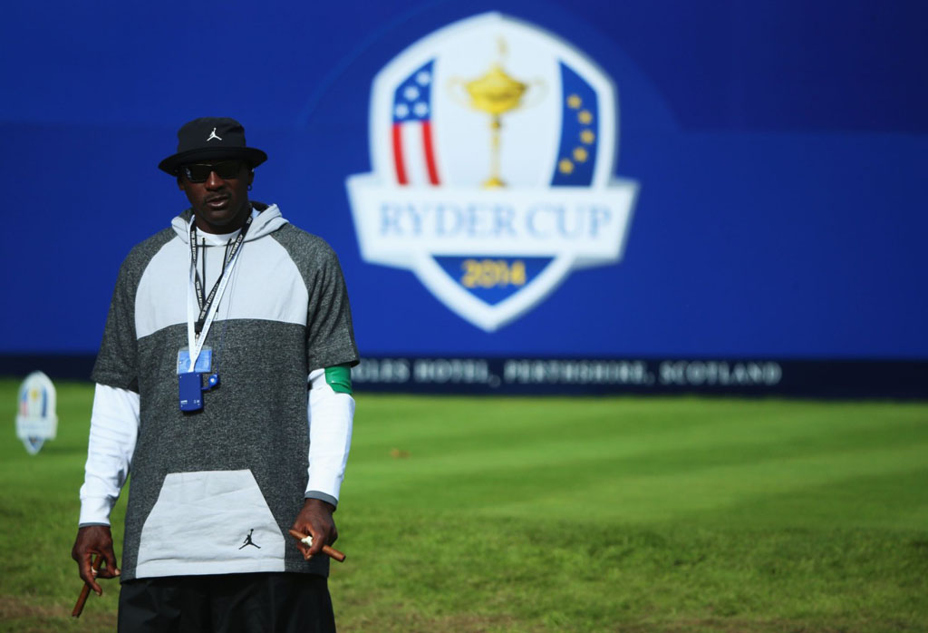 fa11cfe179b Photos of Michael Jordan Being Cool as Hell at the Ryder Cup Today. ""