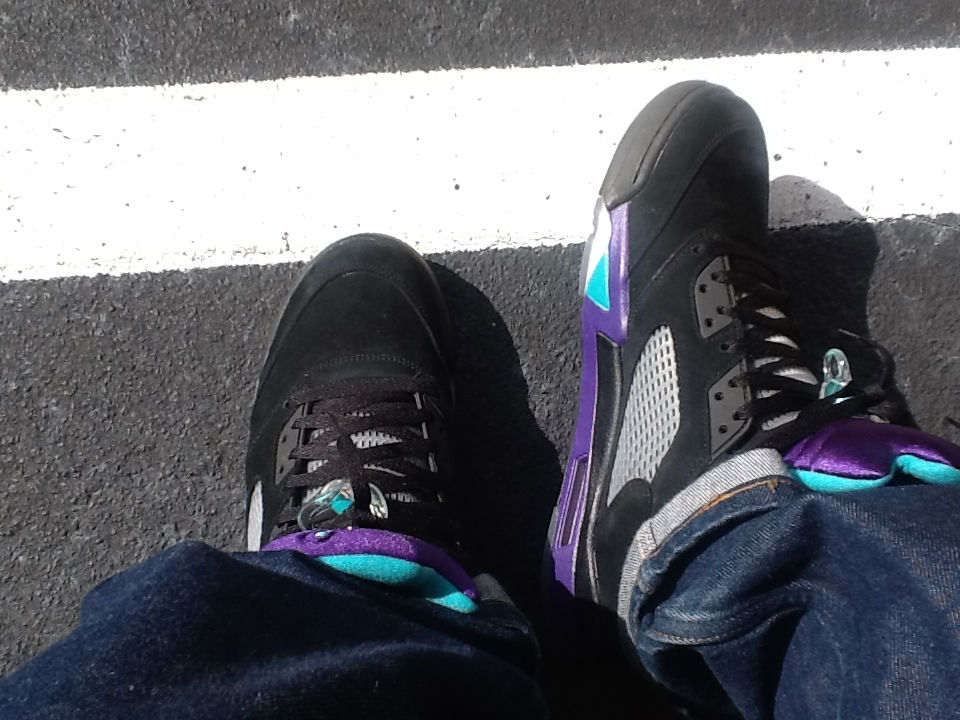 Spotlight // Forum Staff Weekly WDYWT? - 9.21.13 - Air Jordan V 5 Retro Black Grape by goldenchild9389