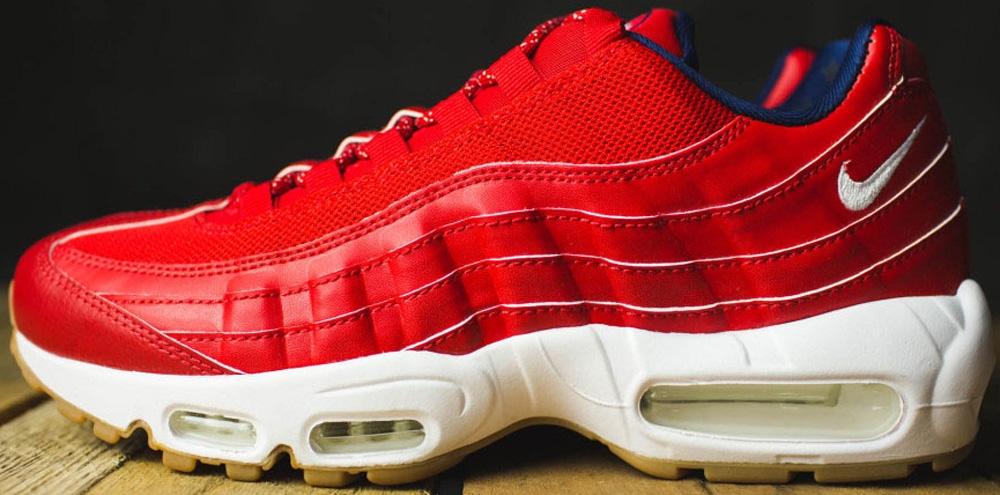 Nike Air Max '95 Premium University Red/White-Midnight Navy