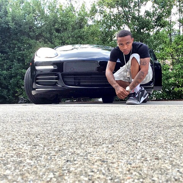 Bow Wow wearing Air Jordan III 3 Black Cement