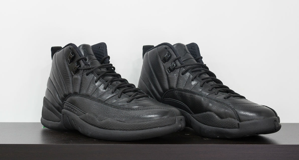 air jordan 12 all black 2016