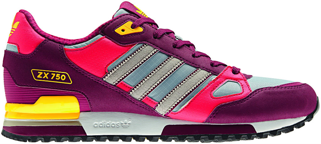 adidas Originals ZX 750 Purple Pink Yellow Spring Summer 2013 Q23661 (1)