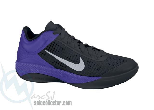 Nike Zoom Hyperfuse Low Black Metallic Silver Varsity Purple 429614-001 18756fac4