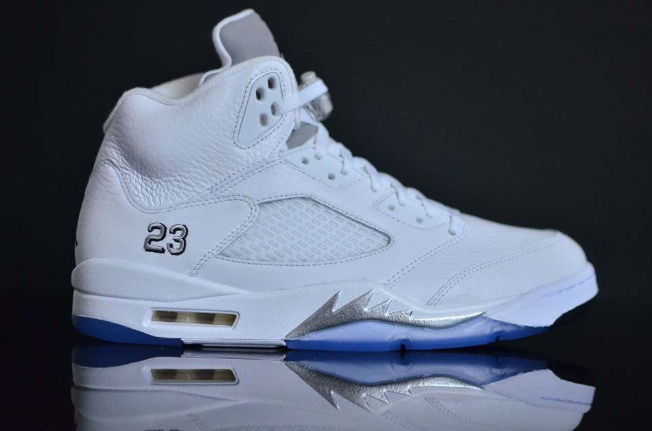 all white air jordan 5